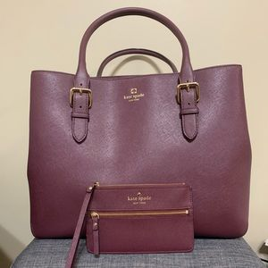 New - Kate Spade Tote and Wristlet Set